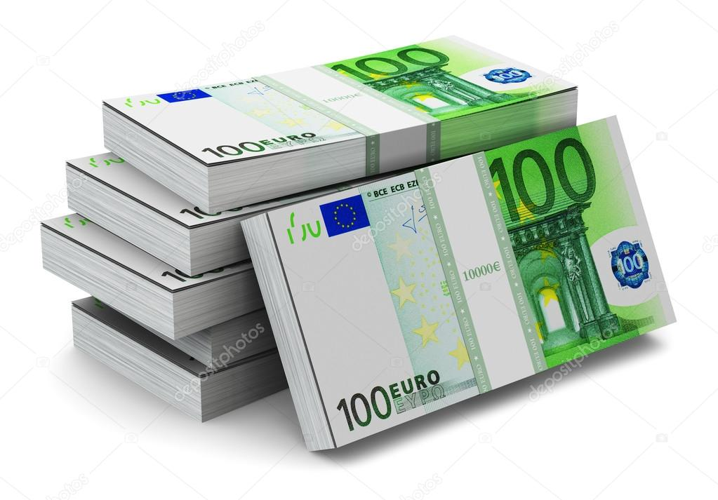 Stacks of 100 euro banknotes stock photo scanrail for Ohrensessel 100 euro