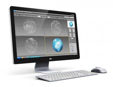 Professional desktop computer workstation