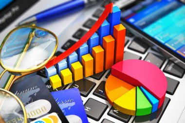 Business work and financial analysis concept