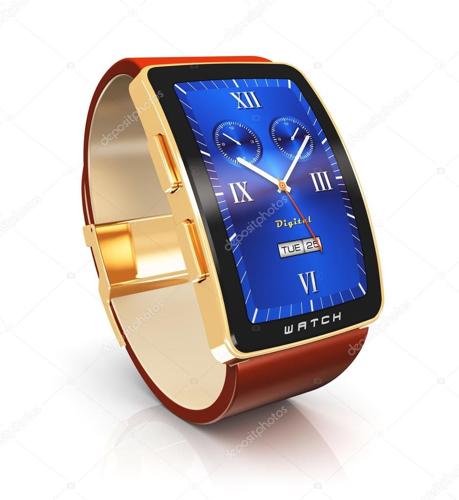 293481abba8 chytré hodinky zlaté luxusní — Stock Fotografie © scanrail  53949195