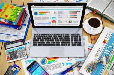 Modern business work concept