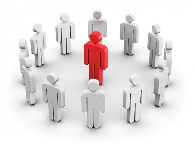 Leadership and individuality concept