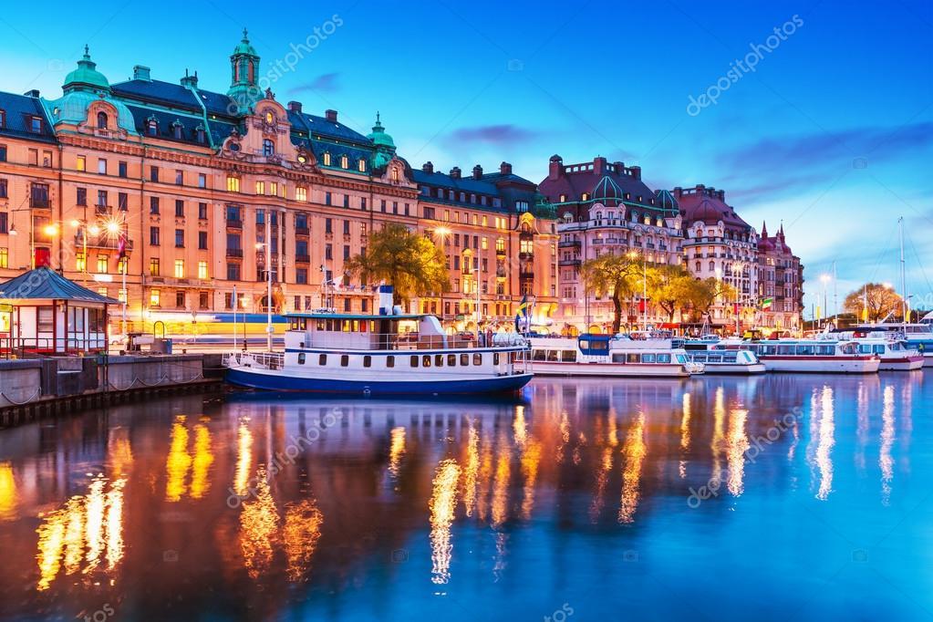Préférence paysage du soir de stockholm, Suède — Photo #73043485 AP19