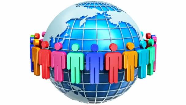 Globální komunikace internet koncept