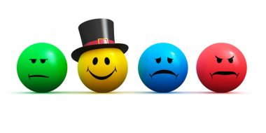Emoticons with four different moods