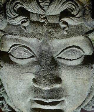 Gorgon Medusa head in Basilica Cistern