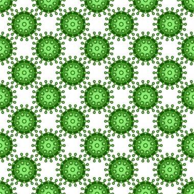 Abstract virus pattern