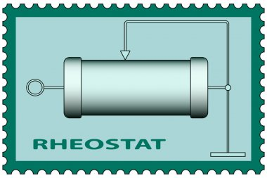 Rheostat on stamp icon