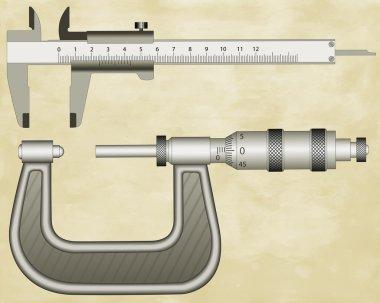 Micrometer gauge and sliding calliper