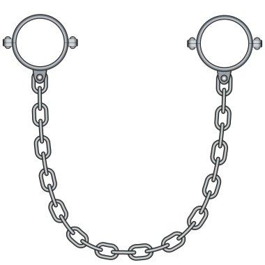 gray shackles icon