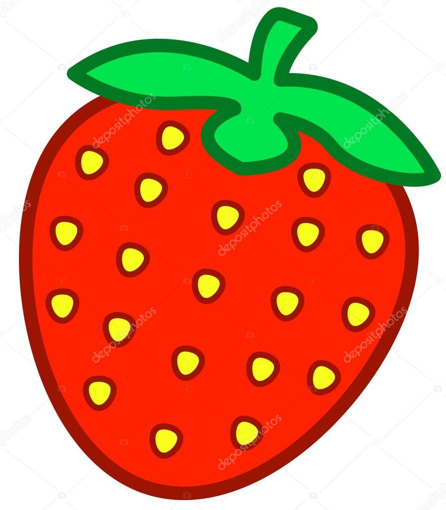 Depositphotos Stock Illustration Cartoon Red Strawberry Icon Vector Of