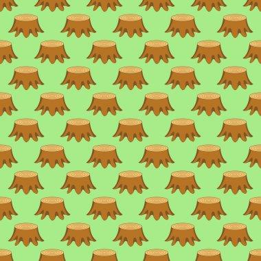 Pattern of the tree stumps