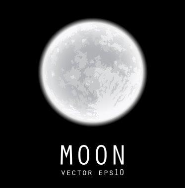 Full moon over black sky