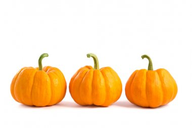 Decorative orange pumpkins