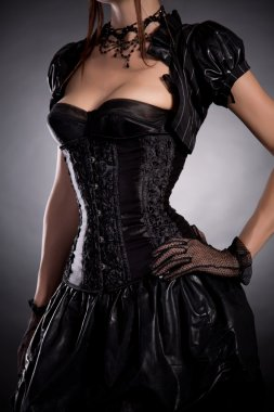 Gothic girl in Victorian style corset