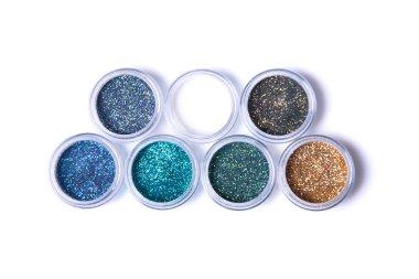 Metallic glitters in jars