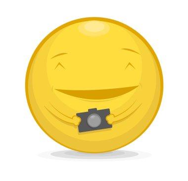 Emoticon with photo camera
