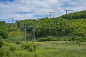 Fotografie High voltage towers
