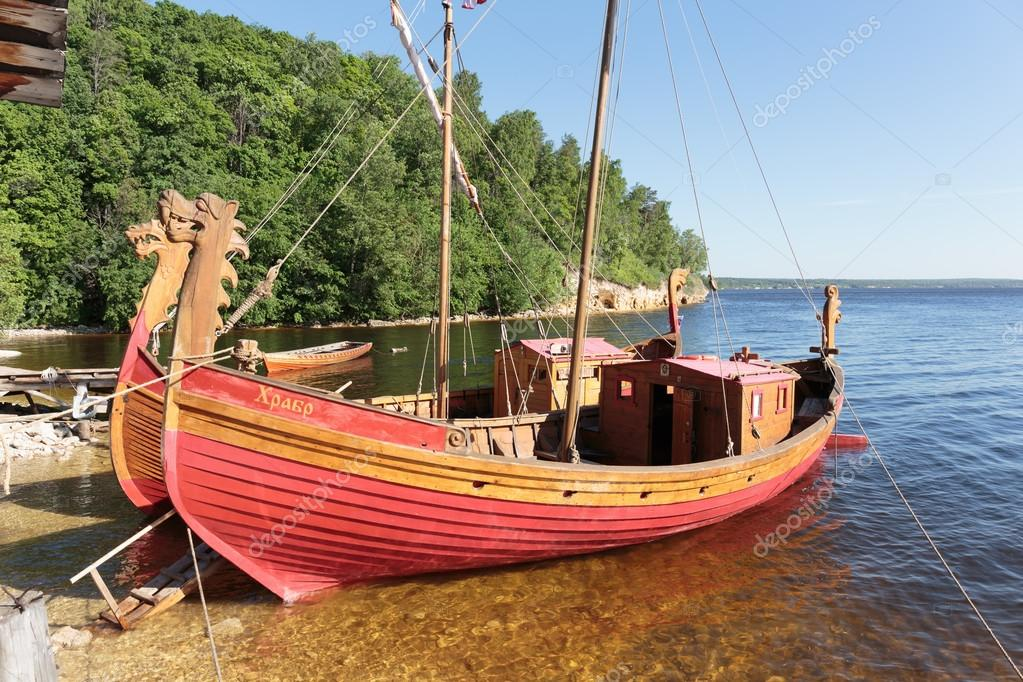 Traditional Old Wooden Sailing Boat Stock Editorial Photo