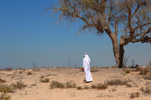 Photo Arab man in desert