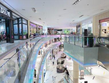 Inside modern luxuty mall in Dubai