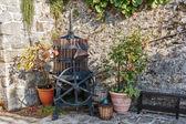 Fotografia Vecchio torchio in cortile
