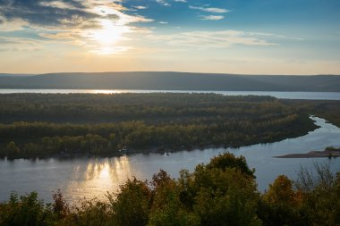 View of the valley of the Volga river