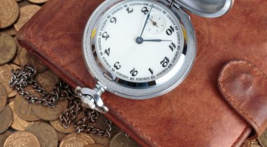 Wallet and pocket watch