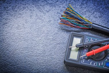 Digital multimeter, electric tester and wires