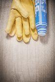 Kožené rukavice bezpečnostní a stavební plány