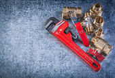 Pipe wrench and brass fittings