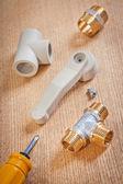Photo Set of plumbing items