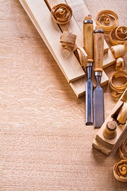 Woodworkers on wooden board