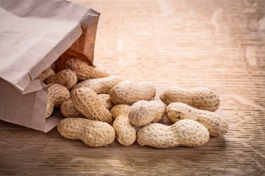 Peanuts in paper bag