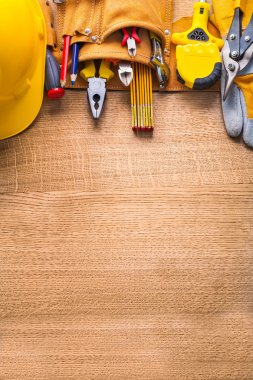 construction tools  in toolbelt