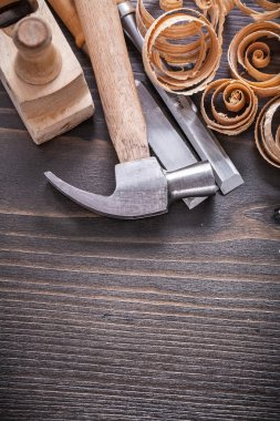planer, claw hammer, metal chisels