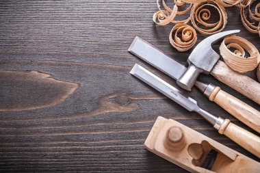 Planer, claw hammer, chisels