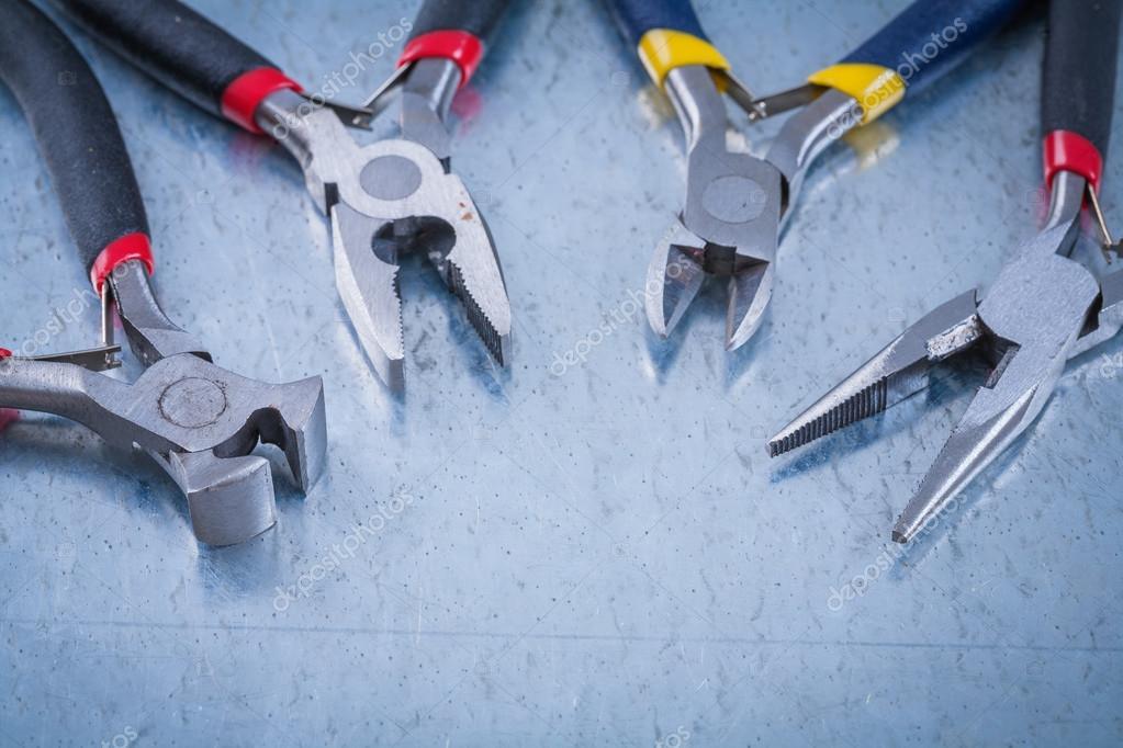 Satz von elektrischen Metall Drahtschneider — Stockfoto © mihalec ...