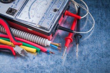 Set of electricity tools close up