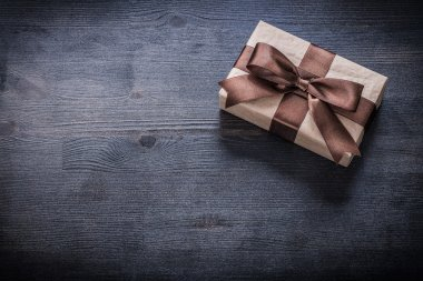 Present box-container with bow