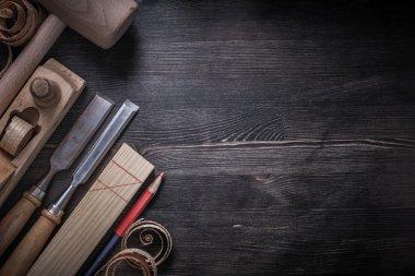 Set of carpenter tools