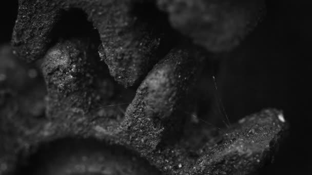 Old rusty gears closeup