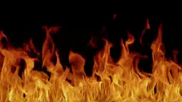 Hell peklo ohně pozadí. Oheň hoří horké čarodějnictví-videoartu.