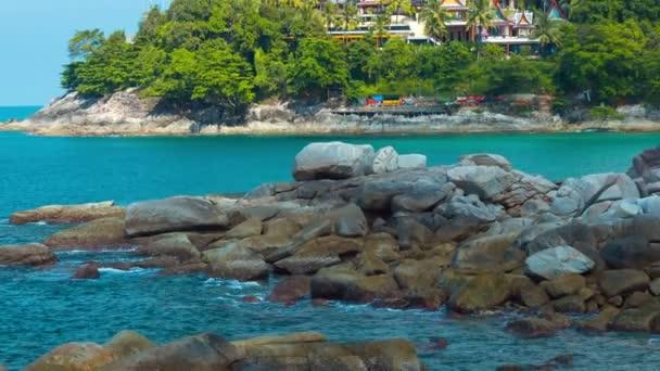 Visszavonuló Zoom Shot, Tropical Beach Resort, Thaiföld
