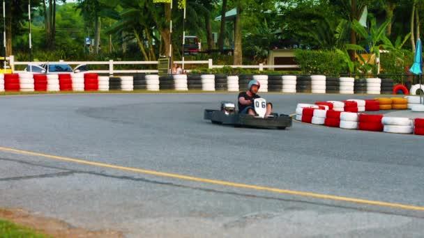 Phuket Thailand Circa Feb 2015 Racers Rounding A Sharp Bend On