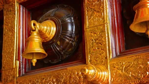 Beautiful. Decorative. Ceremonial Bells in a Hindu Temple