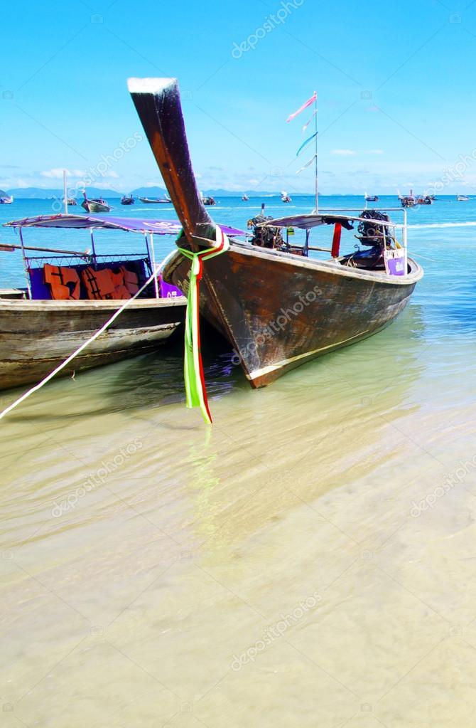 Longtail boats in Andaman Sea