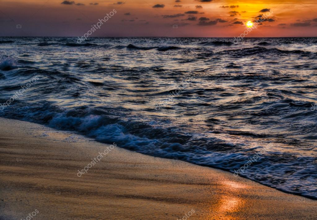 Beautiful with sunset over sea