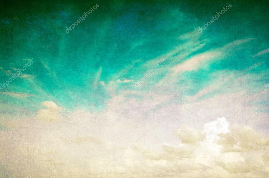 Grunge blue sky