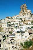 Photo Landscape with ancient rock carved houses
